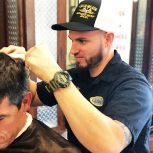 Carlos B at Juniors Barbershop